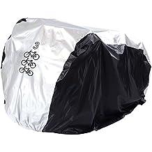 Funda Bicicleta,Funda para Bicicleta,Cubierta Impermeable de Bicicleta, la Cubierta de TRES Bicicleta 180T Nailón con el Tafetán PU, la Capa anti Llvia, Agua, Polvo y Rayos Ultravioleta, la Cubierta de Bicicleta, de Bicicleta de Montaña, de Moto, la Bolsa Ajustable