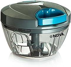 Nova Quick Cut Small Plastic Handy Chopper, Grey
