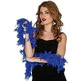 Boa de pluma Azul de 40 gramos de 180 cm.