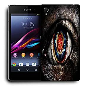 Snoogg Dangerous Eyes Printed Protective Phone Back Case Cover For Sony Xperia Z4