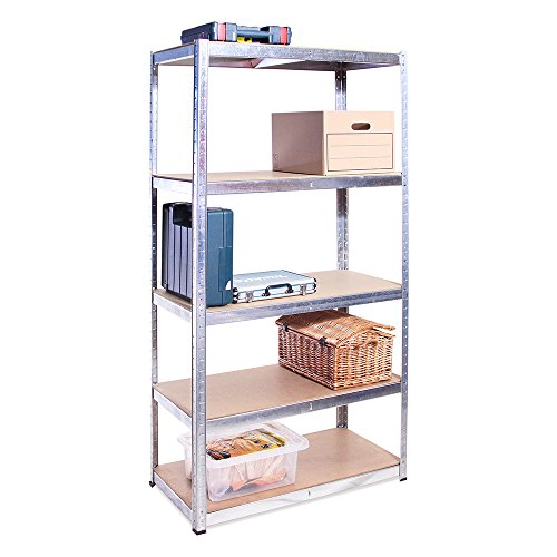 Scaffale per garage - scaffalatura - 180cm x 90cm x 40cm - 5 ripiani (175kg a ripiano) - capacità di carico 875kg - 5 anni di garanzia