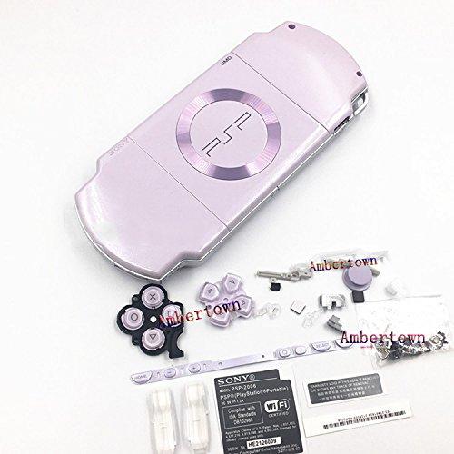 Neue Ersatz Sony PSP 20002001200220032004Serie Konsole Full Gehäuse Shell Schutzhülle mit Button Set-Licht Lila Sony Faceplate Case