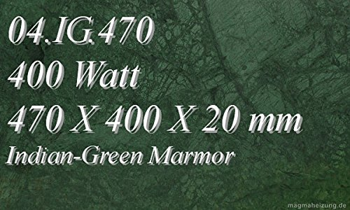Infrarotheizung Marmorheizung Elektroheizung Infrarotheizkörper Magmaheizung 400 Watt 04.IG.470R mit hochwertigem Steckdosenregler mit 2 Kontroll-Leuchten, Schalter und Gradeinstellung für präzise Temperatursteuerung