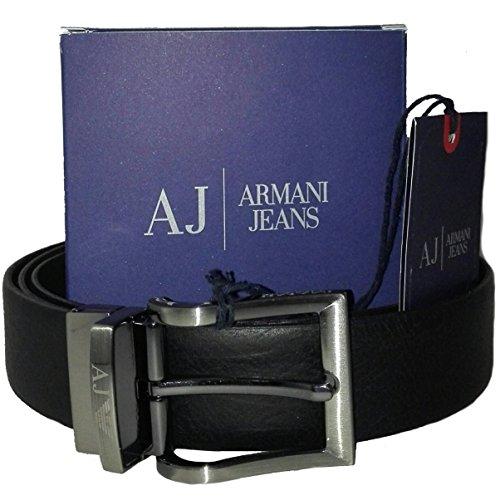 Cintura uomo in pelle Armani Jeans reversibile colore Nero-Marrone Scuro