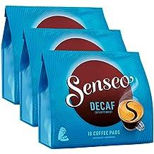 Senseo Decaf / Descafeinado, Nuevo Diseño, Paquete de 3, 3 x 16 Monodosis