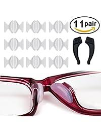 4cb2fad477 Almohadillas de Nariz De Silicona, 10 Pares de Lentes de Gafas de Gafas de  2.5 Mm Con Soporte Para Gancho de Oreja,Espectáculos de…