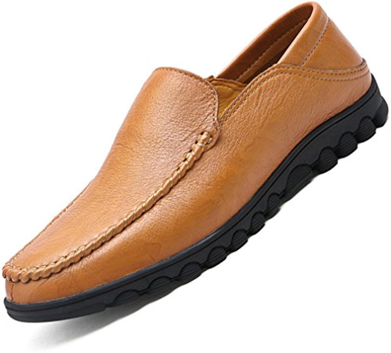 Hommes Chaussures Mocassins Ourlet en PU Cuir Respirent Ourlet Mocassins Basse Plat Bout Pointu Loafers Léger Épais Semelle Antidérapant... 5d9abd