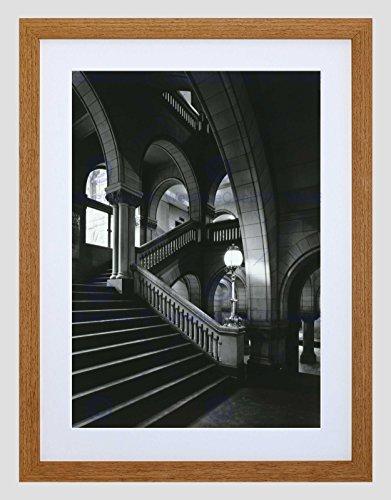 Preisvergleich Produktbild BLACK WHITE PHOTOGRAPHY ARCHITECTURAL ALLEGHENY COURT ART ART PRINT B12X3269