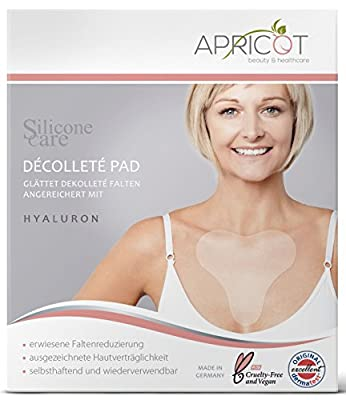 New. Silicone Care® Décolletè Pad with Hyaluron. Unique Premium Version. Original Apricot Product