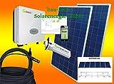 1500Watt Photovoltaikanlage für Eigenverbrauch Plug & Play Komplettset mit Montagematerial als Aufständerung von bau-tech Solarenergie GmbH