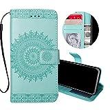 Coque pour iPhone XS Max Flip Case, Obesky Rétro Mandala Relief Motif Etui en PU...