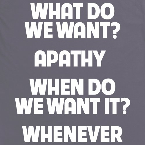 Apathy Whenever T-Shirt, Herren Anthrazit