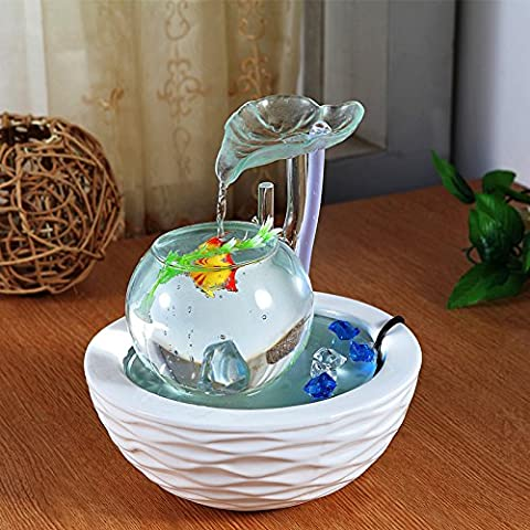 FEI&S Ceramic Flowing Water humidifier living room desk creative Gifts, Home Decor ornaments #23