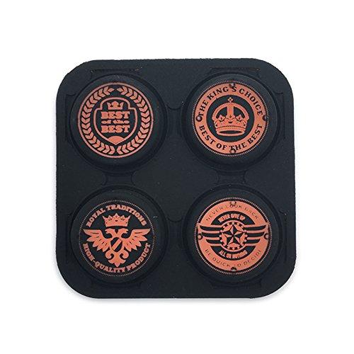 Silikon Anti-Rutsch Daumengriff Stick Cover Joystick Caps für Playstation VITA 1000 2000 PSV 1000 2000 (Crown Orange)