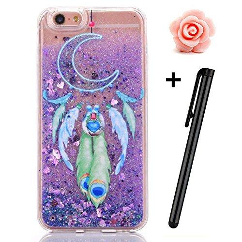 iPhone 6S Plus Hülle,iPhone 6 Plus/6S Plus Hülle Case,TOYYM 3D Kreativ Design Dynamisch Fließen Flüssig Handyhülle PC Hardcase Hüllen für Apple iPhone 6 Plus/6S Plus 5.5inch,Glitter Glitzer Sparkle Ha Dreamcatcher#5