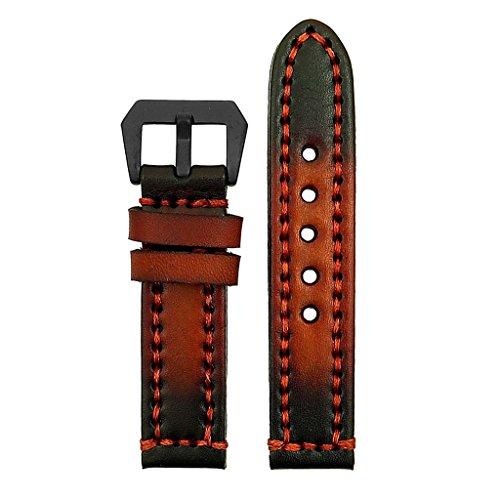 strapsco-18-mm-Vintage-Dickes-Leder-Armbanduhr-Band-in-Rost-mit-Robuste-Nhte-und-matt-schwarz-Pre-V-Schnalle