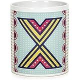 Chumbak Alphabet X Coffee Mug, 300ml
