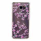 MOTOUREN Coque pourSamsung Galaxy Note 5 Pouces Smartphone Gel TPU Bumper Téléphone Silicone Étui Housse Cas Cover Protecteur - prune fleur