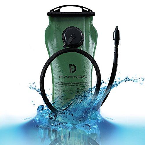 Fafada Bolsa de Agua Portátil de Bolsa de Hidratación Deportiva PEVA para Usos en Espacios (3L Verde)