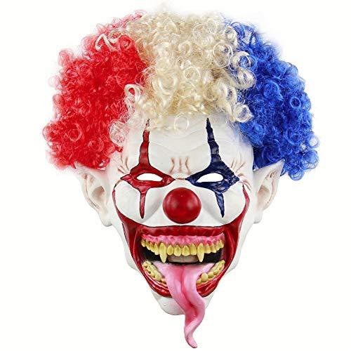 ZLJRR Joker Clown Kostüm Maske Creepy Evil Scary Halloween Clown Maske Adult Ghost Festliche Party Maske Liefert - Creepy Clown Kind Kostüm