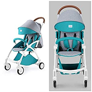 ZLMI Pushchairs Lightweight Pram Buggies Travel System Foldable Buggy 0-3 Years Old Baby Stroller bb Car,B   7