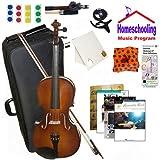 homeschool Musik–Learn To Play The Viola Pack (Akustische Rock Music Book Bundle)–Beinhaltet Student 40,6cm Viola w/Fall, Schleife, Bücher & All Inclusive Learning Essentials