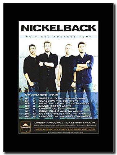 Nickelback-senza domicilio fisso UK Tour date 2015 Magazine Promo su un supporto, colore: nero