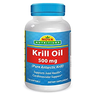 Nova Nutritions Krill Oil 500 mg 120 Softgels from Nova Nutritions