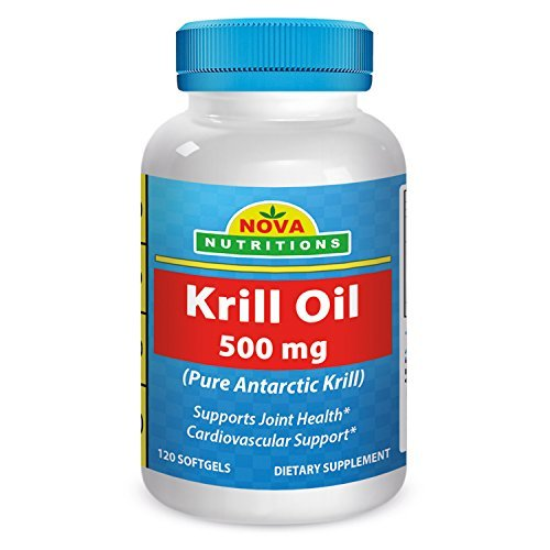 Nova Nutritions Krill Oil 500 mg 120 Softgels