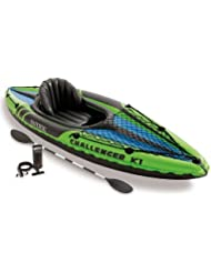 Intex - Kayak hinchable Intex challenger k1 & 1 remo - 274x76x33 cm - 68305NP