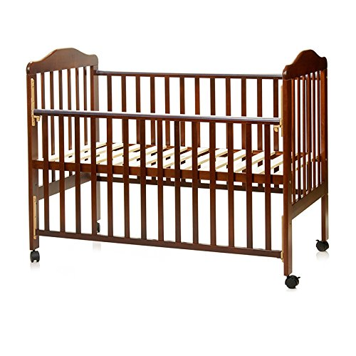 Babycenterindia Wooden Baby Cot, 4 in 1 Large Size, Rubber Wood (Brown)