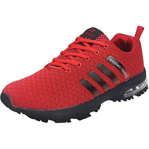 cheap for discount 6b9c5 7f6b6 Wealsex Zapatos para Correr En Montaña Asfalto Aire Libre Deportes  Zapatillas De Running para Hombre (
