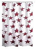 Ridder Duschvorhang Textil Star Rot 180x200 cm