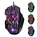 Wired Gaming Mouse, Pictek USB Optical Gaming Mouse for PC Laptop with 5500