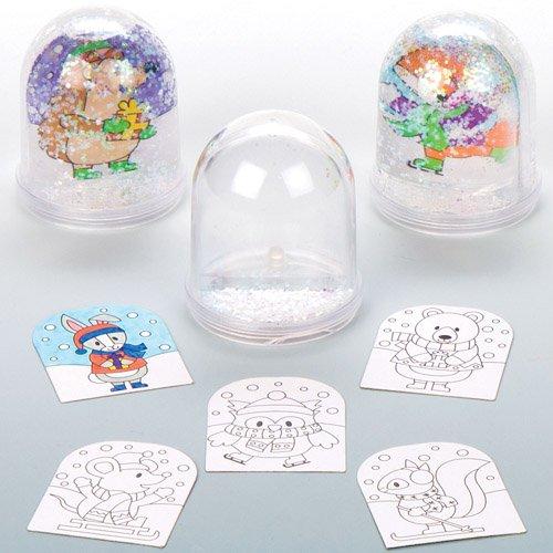 Baker Ross Schneekugeln zum Ausmalen, für Kinder, zum Dekorieren und Personalisieren - Kreative Weihnachtssäure für Kinder, 4 Stück