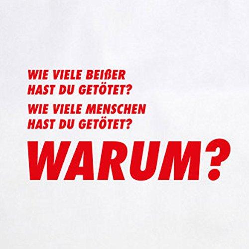 TWD: Drei Fragen - Stofftasche / Beutel Grau