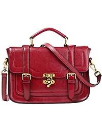 Quatre morceaux de l'épaule unique sacs femmes sacs à main Sac d'épaule rouge,Rose red