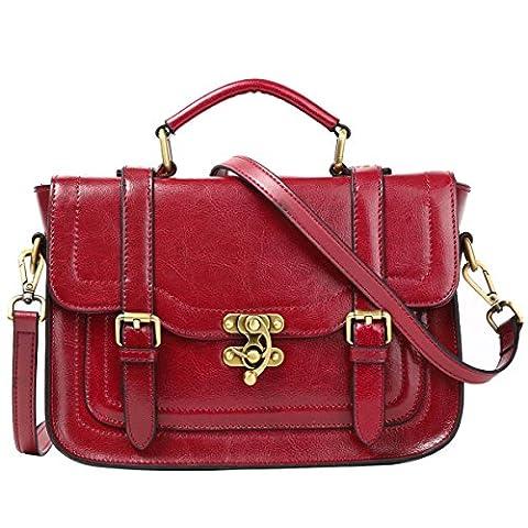 Leathario petit sac femme retro petit sac a main pour femme sac bandouliere cuir sac a epaule sac loisirs sac portable sac en cuir veritable pour femmes