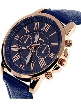 Tonsee 11 Farben 2015 neue Fashion Damen Uhren in römische Ziffern Faux Leder Analog Quarz Frauen Männer lässig...