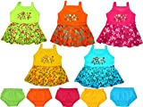 #7: Vinab Cotton Frock Set For Baby Girls -6 To 12 Months (Pack Of 5)