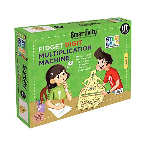 Smartivity Fidget Digit Multiplication Machine Stem, DIY, Educational, Learning, Building and Construction Toy