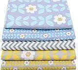 OPEN BUY 5 Telas Costura Vintage Manualidades tapizar Scrapbooking Patchwork DE 40 x 50 cm Colores Retro