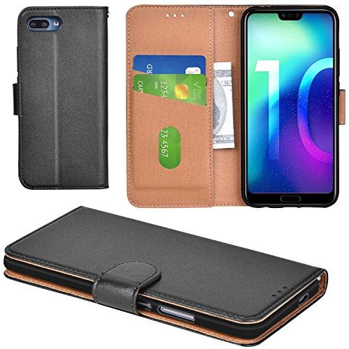 Aicoco Huawei Honor 10 Hülle Schutzhülle Tasche Flip Case für Huawei Honor 10 Handyhülle - Schwarz