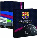 Classeur A4 Barça - Collection officielle FC BARCELONE - football Fc Barcelona - polypropylène - Epaisseur 4 cm 4 anneaux