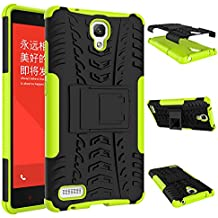 Para Xiaomi Redmi Note (5,5 pulgadas) Cáscara Armadura Combo ZeWoo® Carcasa y Funda de Silicona - HH006 / Rodadura antideslizante (verde)