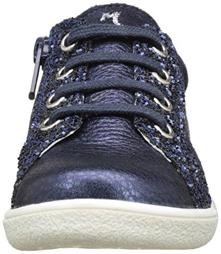 Minibel Luxee17, Derbys Fille Bleu (Metal Marine-Glitter)