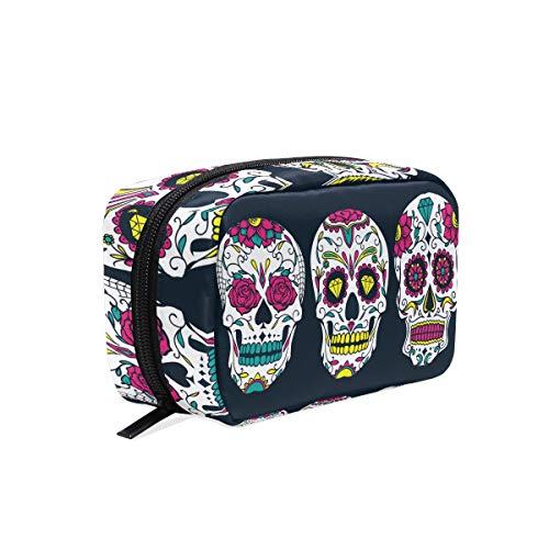 Bolsa maquillaje diseño calavera mexicana Día Muertos