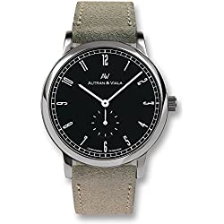 NEW: Autran & Viala Men's Plano Bauhaus | Quartz watch | Fine velour leather | Made in Germany