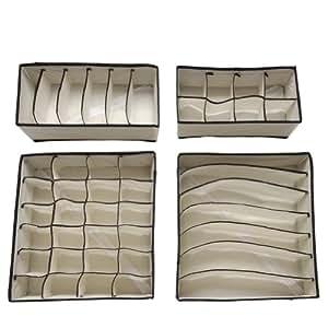 soledi bo te stockage de rangement pour les sous v tements les soutien gorges 2 couleurs rose. Black Bedroom Furniture Sets. Home Design Ideas