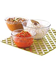 Treo Borosilicate Glass Microwave Safe Mixing Bowl,(500, 1000, 1500ml, Clear) - Pack of 3